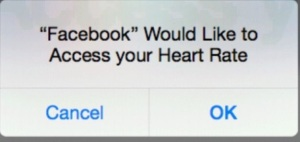FACEBOOK_WOULD_LIKE_TO_ACCESS_YOUR_HEART_RATE__CANCEL___OK_-_KID_SHIRT